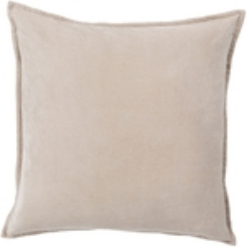 """18"""" Taupe Brown Flange Solid Square Throw Pillow Cover - IMAGE 1"""