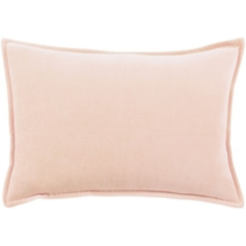 "19"" Pale Orange Flange Solid Rectangular Throw Pillow - Down Filler - IMAGE 1"