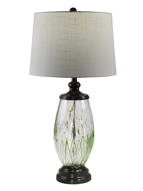 """31.5"""" Crystal Vale Painted Table top Lamp - IMAGE 1"""