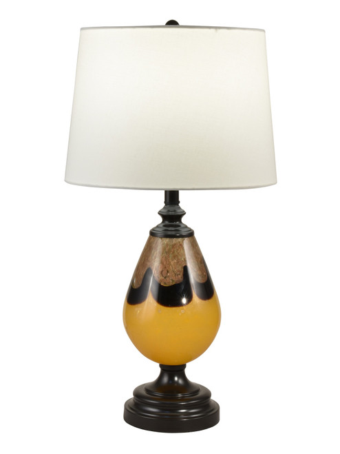 """27.5"""" Hand Blown Brown table Top Lamp - IMAGE 1"""