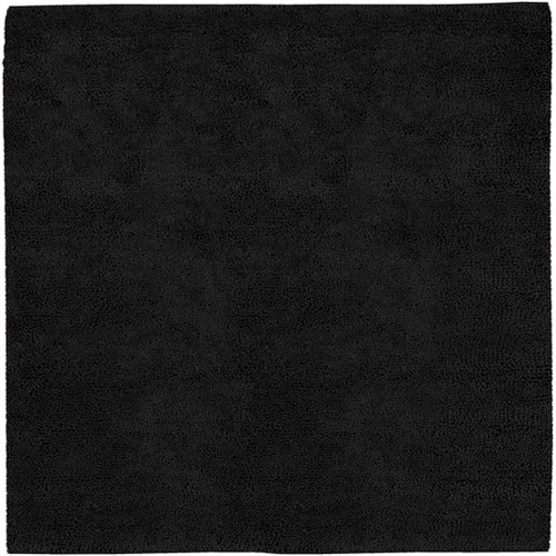 "Charcoal Black Hand-Woven Square Throw Rug SAMPLE 6"" X 6"" - IMAGE 1"