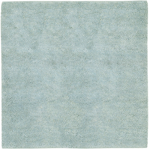 "6"" x 6"" Glacier Blue Hand Woven Square Wool Area Throw Rug Corner Sample - IMAGE 1"