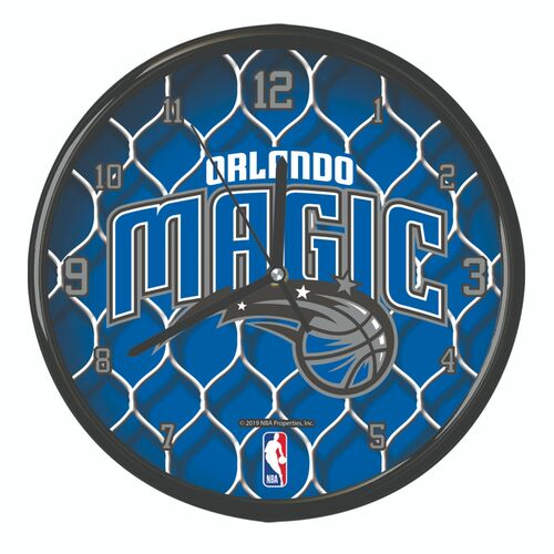 "11.5"" Blue and Black NBA Orlando Magic Net Wall Clock - IMAGE 1"