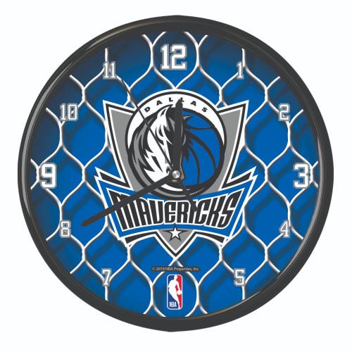 "11.5"" Blue and Gray NBA Dallas Mavericks Net Wall Clock - IMAGE 1"