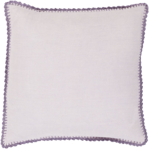 "20"" Periwinkle Purple Solid Square Throw Pillow Cover - IMAGE 1"