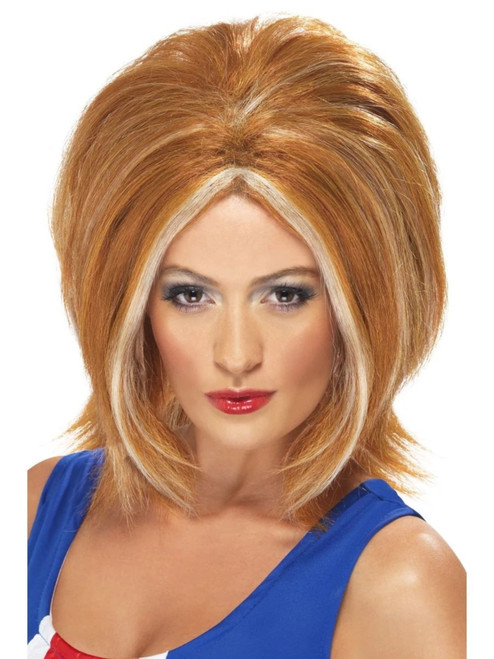 """26"""" Brown and Blonde Streaks Girl's Princess Women Adult Halloween Wig Costume Accessory - One Size - IMAGE 1"""