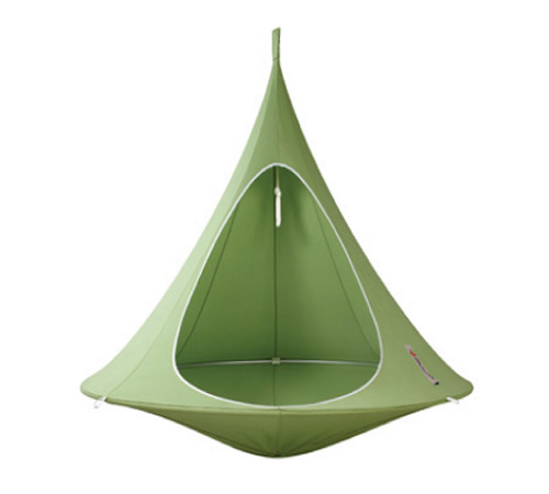 """72"""" Green Two Person Hanging Cacoon Chair with Hanging Hardware - IMAGE 1"""