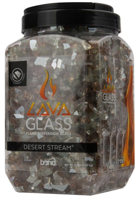 Pack of 4 Desert Stream Heat and Weather Resistant Classic Cut Lava Glass - IMAGE 1