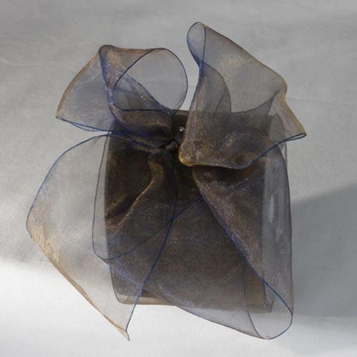 "Black Crystal Organdy Craft Ribbon 3"" x 55 Yards - IMAGE 1"