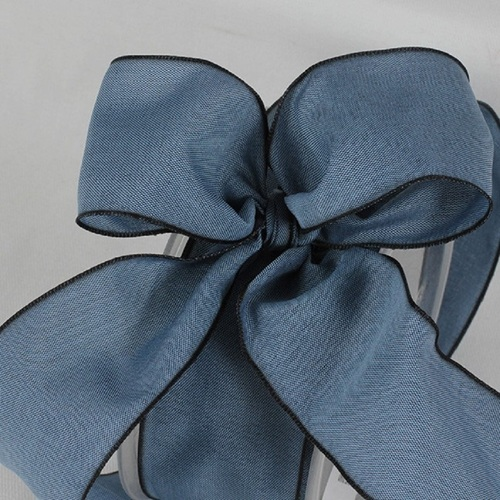 "French Blue Solid Wired Edge Ribbon 1.5"" x 27 Yards - IMAGE 1"