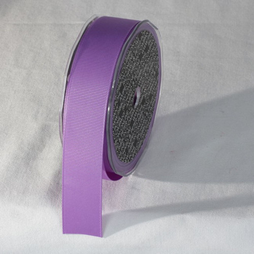 "Orchid Purple Striped Pattern Woven Edge Ribbon 1"" x 22 Yards - IMAGE 1"