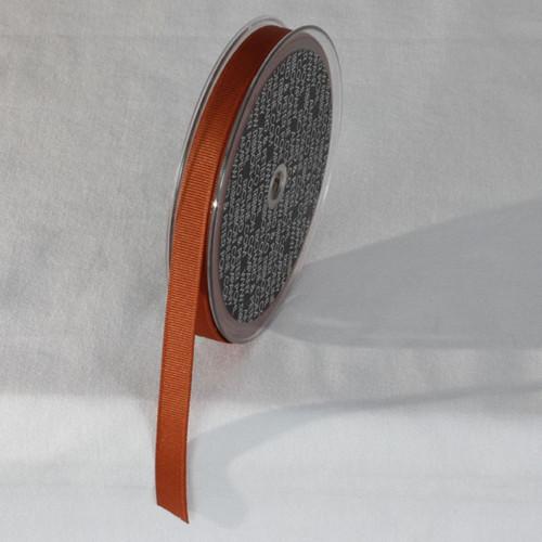 "Orange Striped Woven Edge Grosgrain Ribbon 0.3"" x 22 Yards - IMAGE 1"