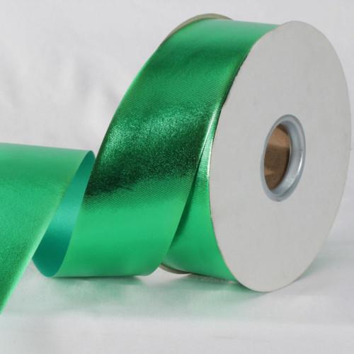"""Emerald Green Metallic Finish Ribbon 2"""" x 110 Yards - IMAGE 1"""