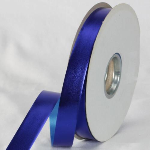 "Royal Blue Metallic Finish Ribbon 0.75"" x 110 Yards - IMAGE 1"