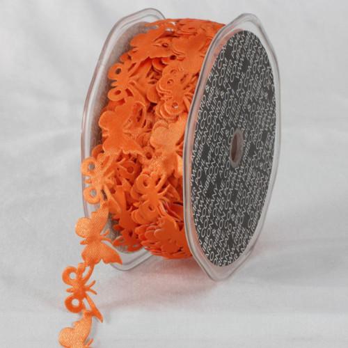 "Orange Sticky Back Enchanting Butterfly Garland Lace Craft Ribbon 0.8"" x 22 Yards - IMAGE 1"