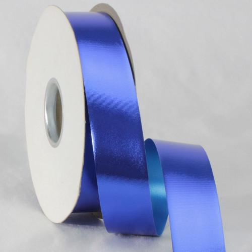 "Royal Blue Metallic Finish Ribbon 1.2"" x 110 Yards - IMAGE 1"