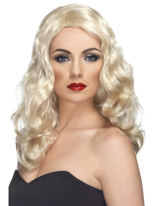 "26"" Blonde Ivory Glamorous Long and Wavy Women Adult Halloween Wig Costume Accessory - One Size - IMAGE 1"