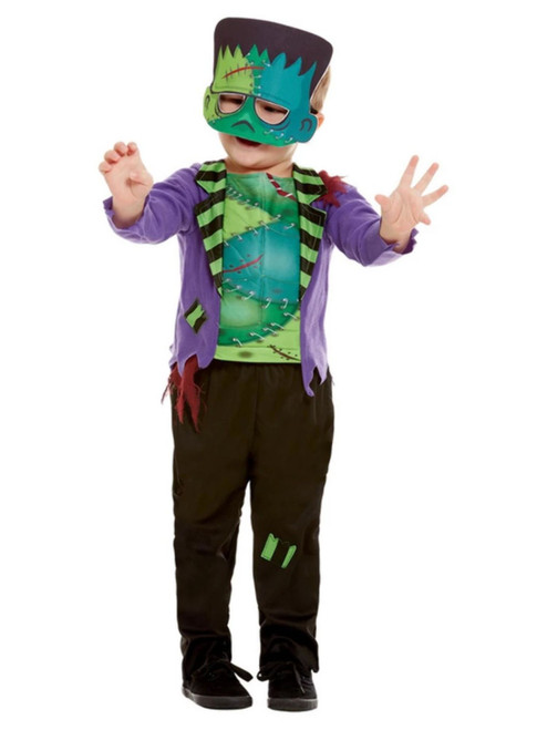 """40"""" Green and Purple Monster Toddler Halloween Costume - T2 - IMAGE 1"""