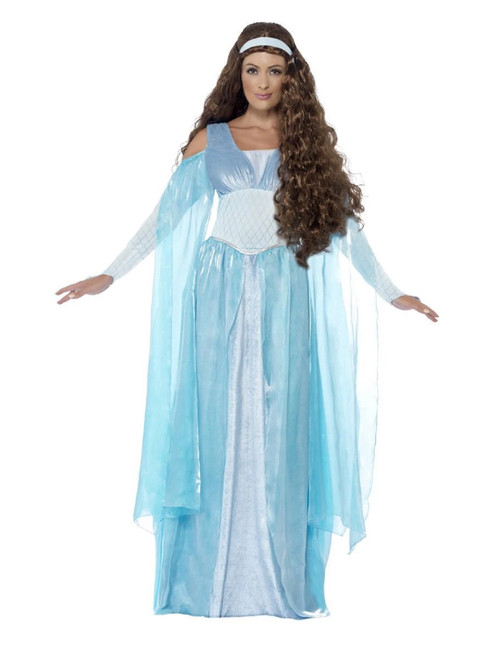 """49"""" Blue Medieval Maiden Deluxe Women Adult Halloween Costume - Large - IMAGE 1"""