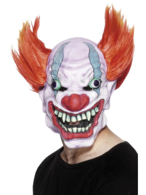 """37"""" White and Red Clown Men Adult Halloween Mask Costume Accessory - One Size - IMAGE 1"""