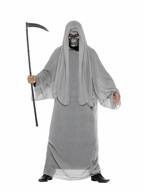 "44"" Gray Grim Reaper Men Adult Halloween Costume - Large - IMAGE 1"