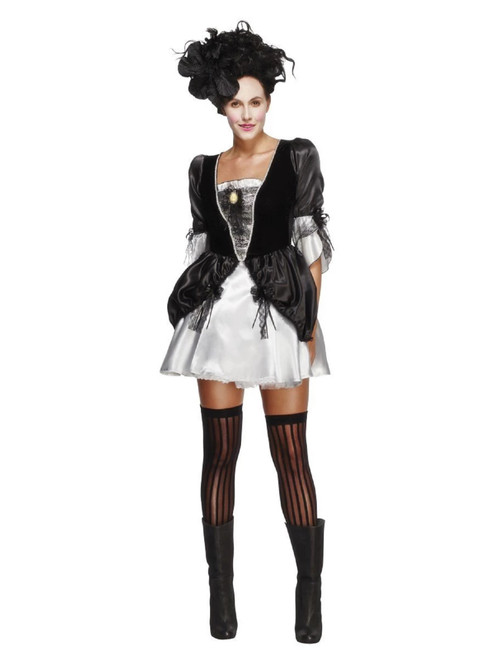 """41"""" Black and White Fever Baroque Women Adult Halloween Costume - Small - IMAGE 1"""