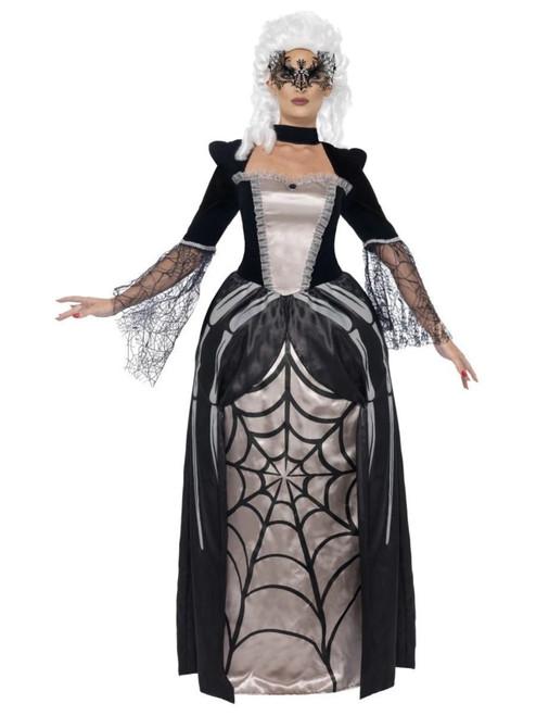 "41"" Black and White Widow Baroness Women Adult Halloween Costume - Medium - IMAGE 1"
