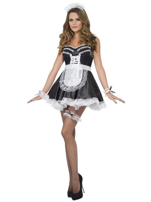 """30"""" Black and White French Maid Women Halloween Costume Accessory - One Size - IMAGE 1"""