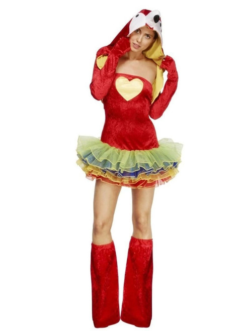 "49"" Red and Yellow Fever Birds of Paradise Parrot Women Adult Halloween Costume - Large - IMAGE 1"