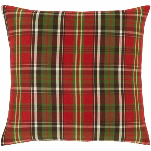 """22"""" Vibrantly Colored Checkered Pattern Square Throw Pillow - Poly Filled - IMAGE 1"""
