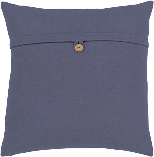 """20"""" Navy Blue Solid Square Throw Pillow with Knife Edge - Down Filled - IMAGE 1"""
