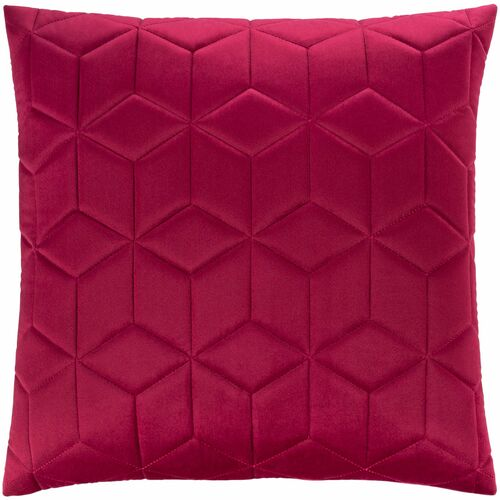 "20"" Red Diamond Design Square Throw Pillow with Knife Edge - Poly Filled - IMAGE 1"