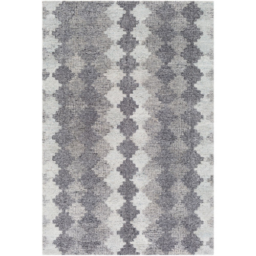 8' x 10' Contemporary Style Gray and Taupe Rectangular Area Throw Rug - IMAGE 1