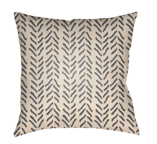 """20"""" Gray and Beige Digitally Printed Square Throw Pillow Cover - IMAGE 1"""