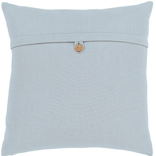 """20"""" Gray Solid Woven Square Throw Pillow Cover with Knife Edge - IMAGE 1"""