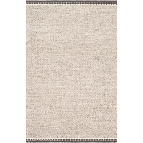 9' x 12' Solid Brown and Beige Rectangular Area Throw Rug - IMAGE 1
