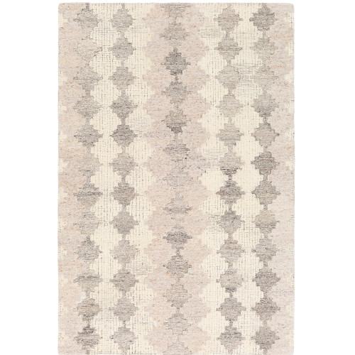 """5' x 7'6"""" Brown and Gray Diamond Patterned Rectangular Hand Tufted Area Rug - IMAGE 1"""