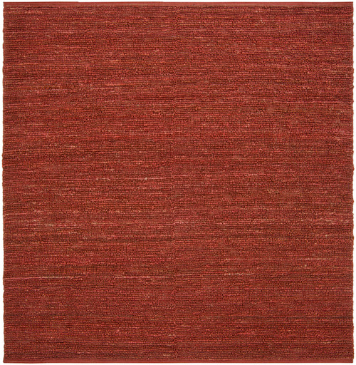 """6"""" x 6"""" Solid Rust Red Hand Woven Square Area Throw Rug Sample - IMAGE 1"""