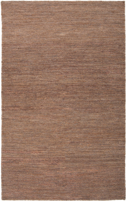 """6"""" x 6"""" Brown Hand Woven Square Area Throw Rug - IMAGE 1"""