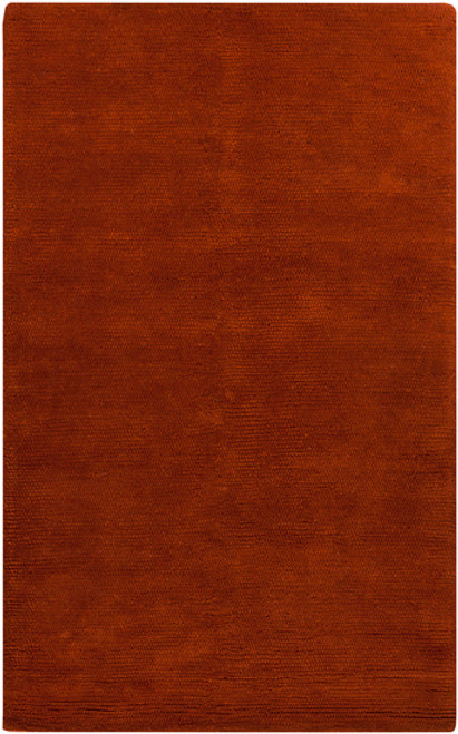 0.5' x 0.5' Red Hand Woven Square Wool Area Throw Rug Corner Sample - IMAGE 1