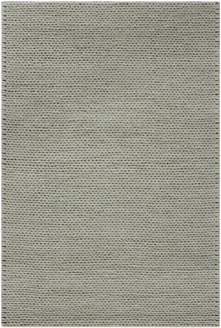 "6"" x 6"" Solid Dove Gray Hand Woven New Zealand Wool Area Throw Rug Corner Sample - IMAGE 1"