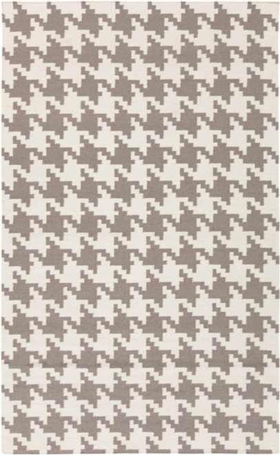 "6"" x 6"" White and Gray Hand Woven Wool Area Throw Rug Corner Sample - IMAGE 1"