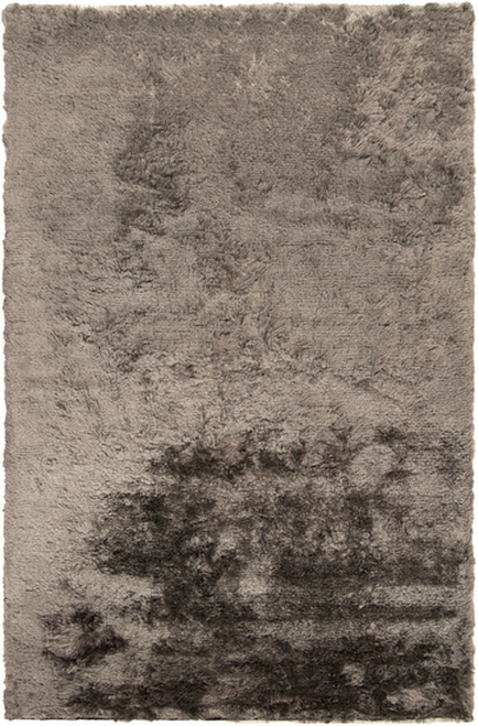 """6"""" x 6"""" Shimmering Mottle Gray Hand Woven Area Throw Rug Sample - IMAGE 1"""