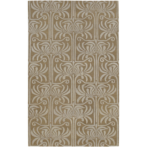 1.5' x 1.5' Brown Hand-Tufted Square Area Throw Rug - IMAGE 1