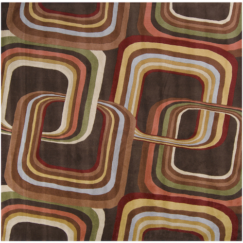 1.5' x 1.5' Eternal Apollo Contemporary Multi-Colored Wool Area Throw Rug - IMAGE 1