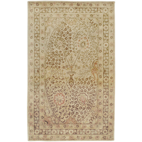 1.5' x 1.5' Honey Yellow and Brown Square Area Throw Corner Rug - IMAGE 1