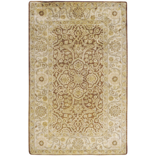 1.5' x 1.5' Tan Brown and Beige Square Area Throw Corner Rug - IMAGE 1