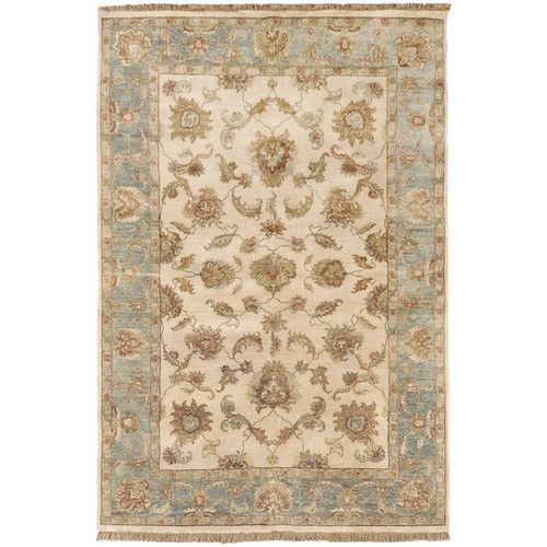 1.5' x 1.5' Beige and Seal Gray New Zealand Wool Rectangular Area Throw Corner Rug - IMAGE 1