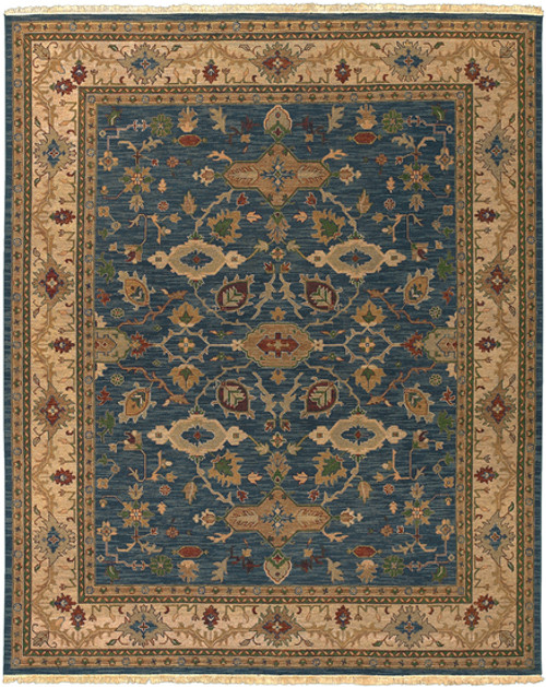 1.5' x 1.5' Floral Beige and Red Hand Knotted New Zealand Wool Area Throw Rug Corner Sample - IMAGE 1