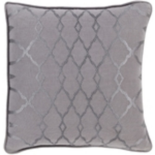 """18"""" Charcoal Gray Geometric Square Throw Pillow Cover - IMAGE 1"""